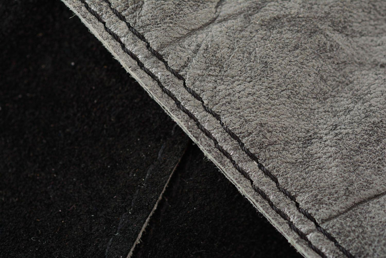Graues Armband aus Leder foto 5