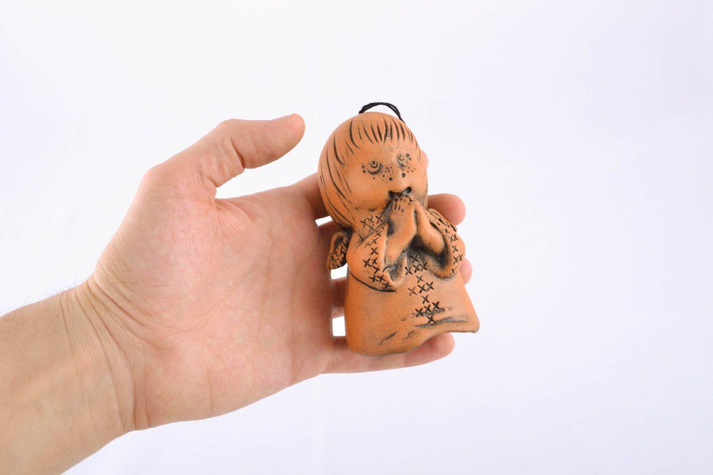 Ceramic bell kilned with milk Boy photo 4
