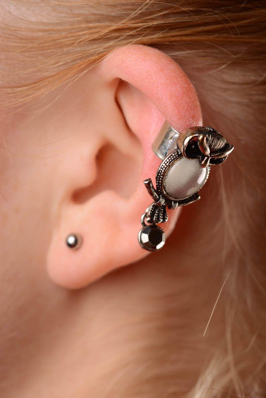 Metal ear cuff Owl photo 3
