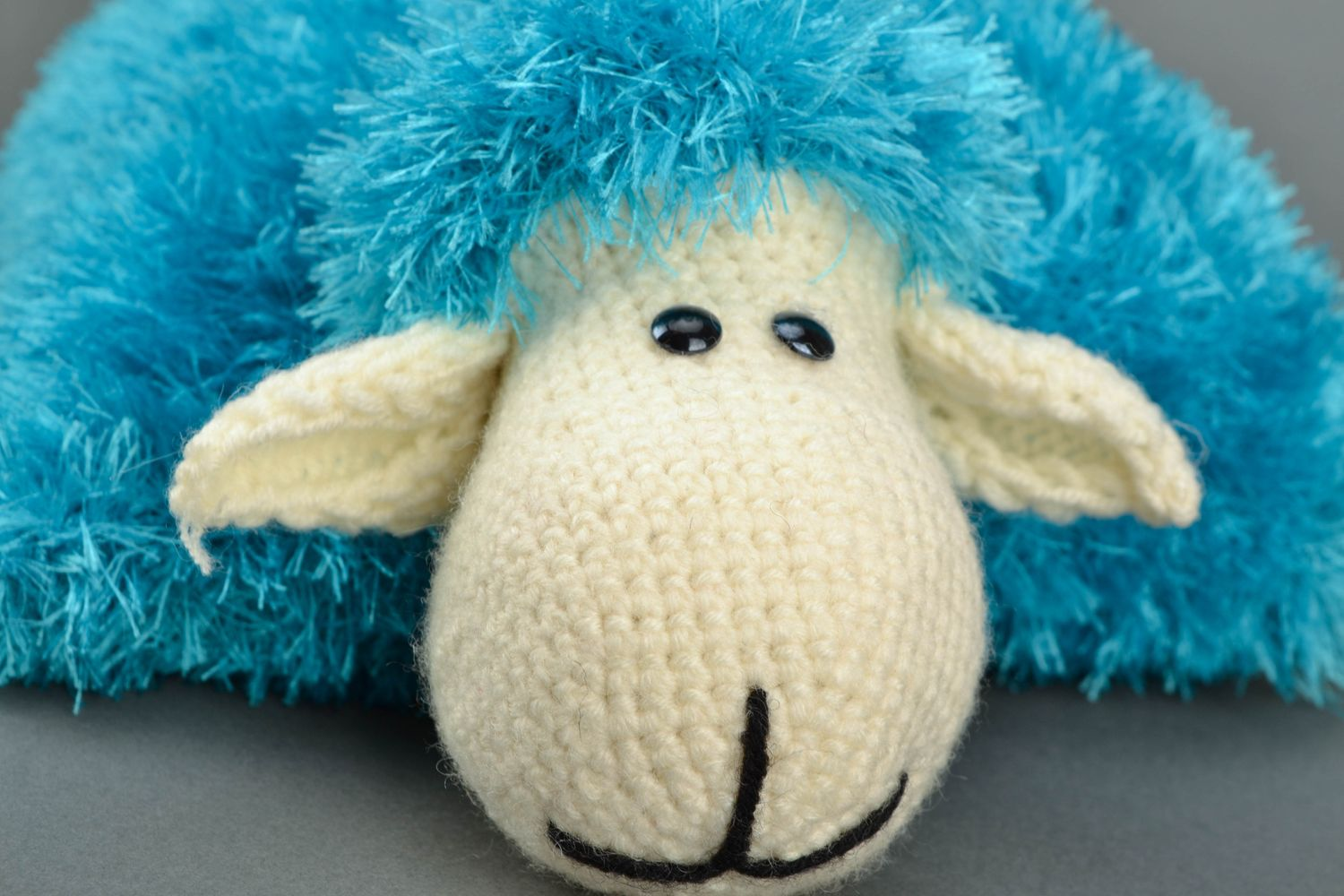 Soft pillow pet in the shape of sheep Turquoise photo 3