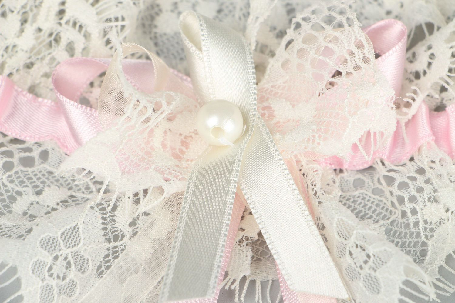 clothes Bridal garter with lace - MADEheart.com