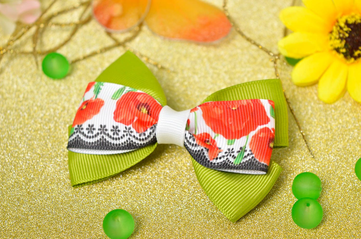 Handmade hair jewelry bow hair clip baby hair bows kids accessories gift for her photo 1