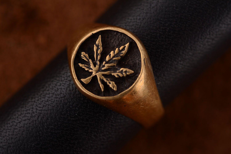 Бронзовый перстень ручной работы фото 3