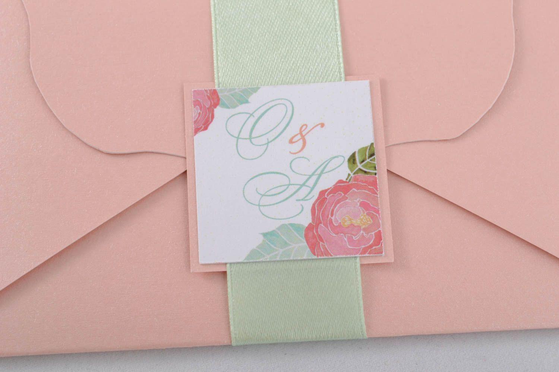 Handmade invitation card photo 3