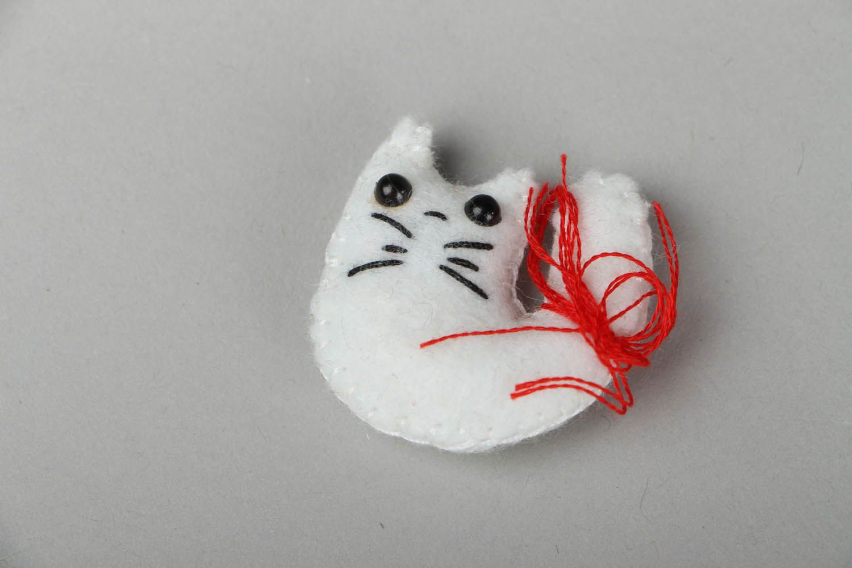 Felt fridge magnet Cat photo 1