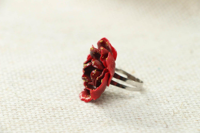 Оригинальное кольцо хенд мейд из полимерной глины фото 1