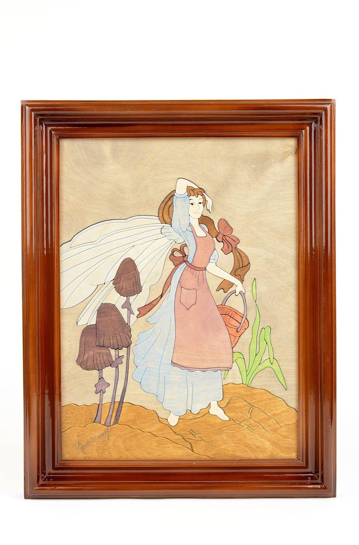Wohnzimmer Ideen Handmade Bild mit Holzrahmen Gemälde ...