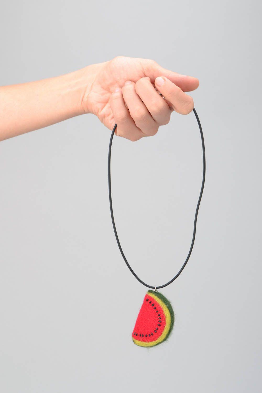 Woolen pendant Water-melon Slice photo 2