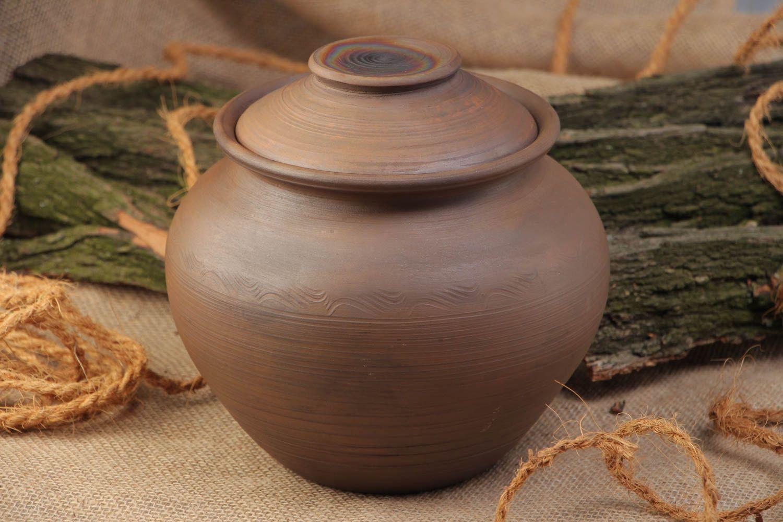 Madeheart pot en terre cuite fait main avec couvercle pour cuisson vaisselle cologique - Quelle terre pour hortensia ...