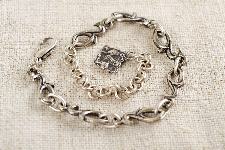 Thin handmade metal bracelet womens bracelet ideas handmade accessories photo 1