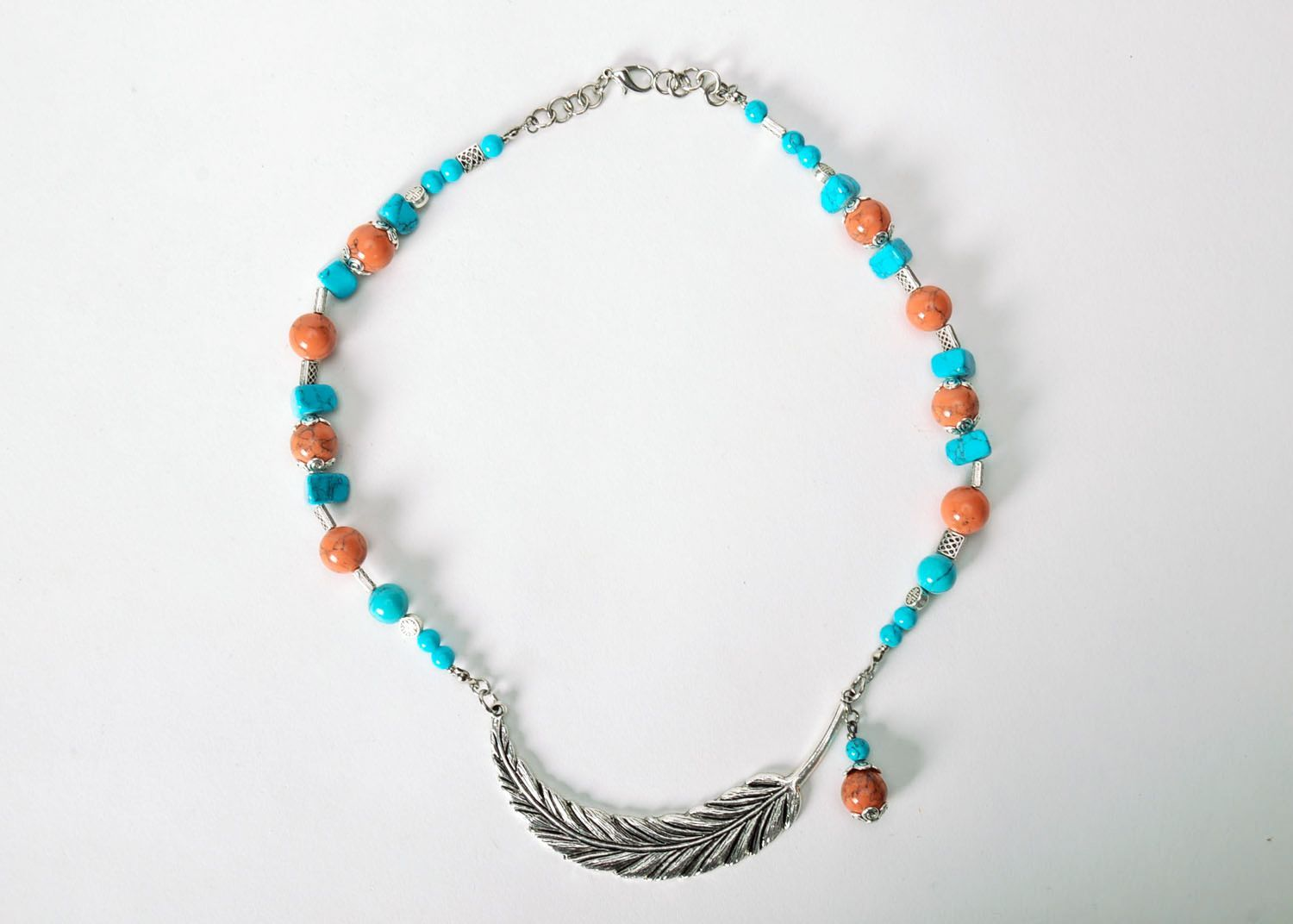 Necklace made of turquoise  photo 2