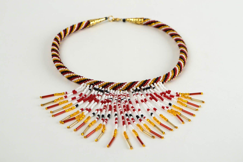 Rocailles Kette handmade Halskette Damen exklusiver Schmuck Damen Collier schön foto 2