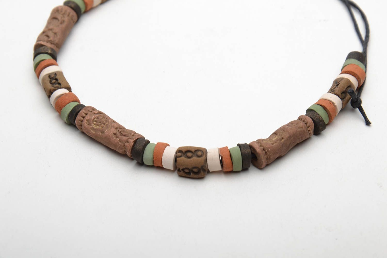 Ceramic bracelet in ethnic style photo 5