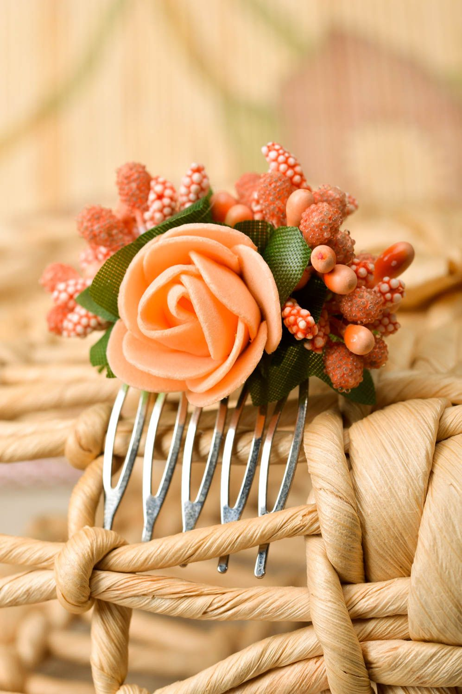 Handmade fashion hair comb flowers for hair floral hair clip kids accessories photo 1
