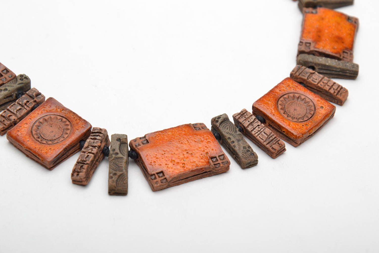 Ethnic ceramic necklace photo 5