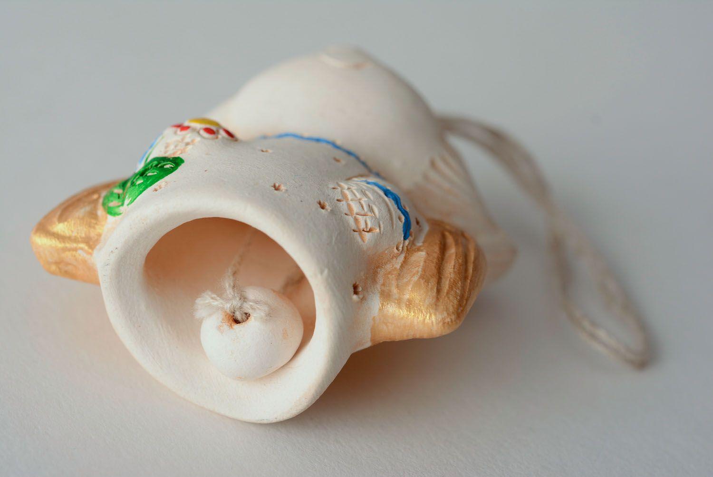 Handmade ceramic bell Angel photo 3