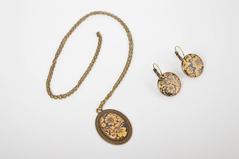 Handmade stylish jewelry set elite designer accessories elegant feminine present photo 3