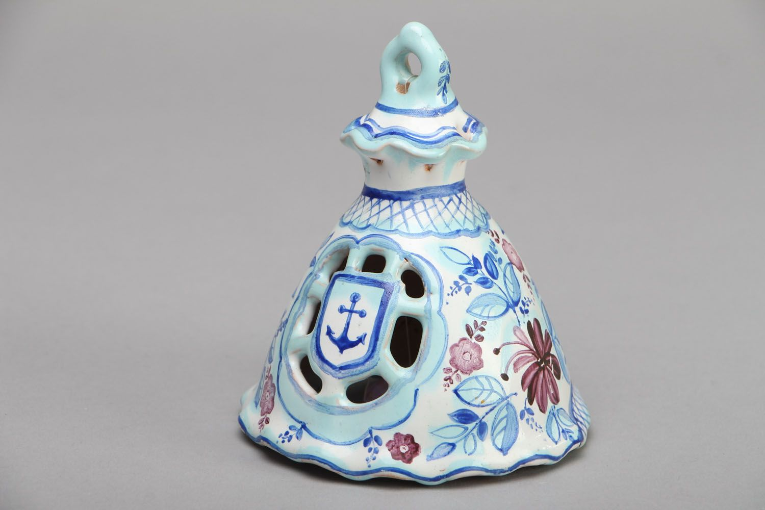 Ceramic bell with painting photo 1