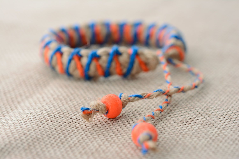 Плетеный браслет детский фото 2