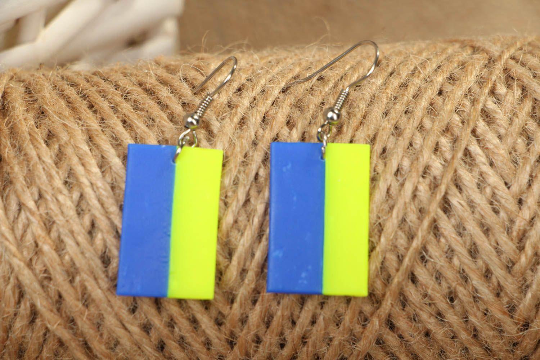 Polymer clay earrings in Ukrainian style photo 5