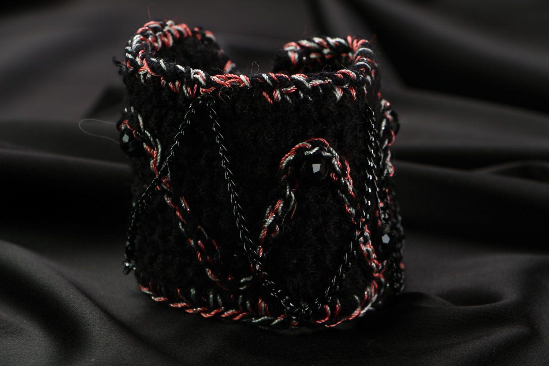 Wide crochet bracelet photo 1