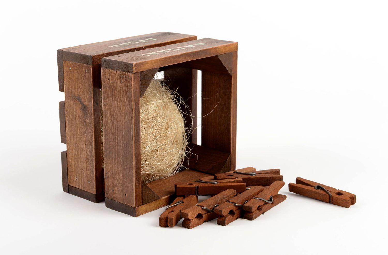 madeheart panier rangement fait main bo te en bois caisse design d co maison originale. Black Bedroom Furniture Sets. Home Design Ideas
