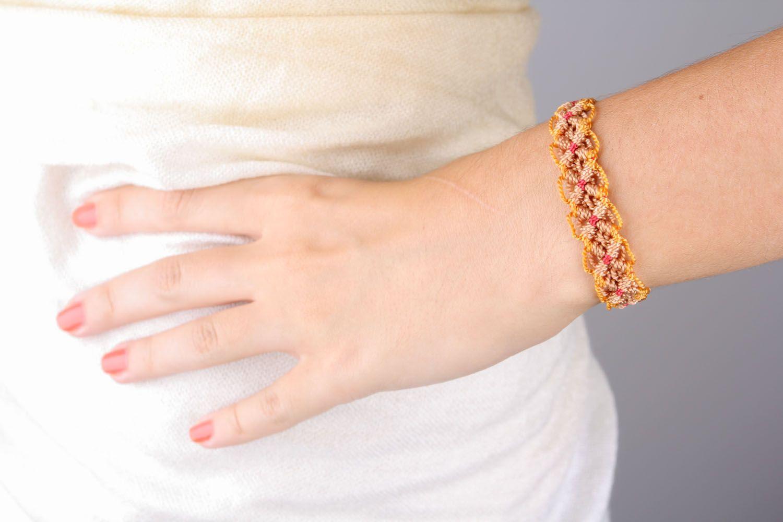 textile bracelets Thin woven bracelet - MADEheart.com