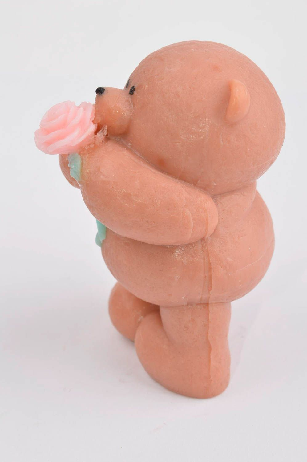 Handmade soap natural soap teddy-bear with rose natural cosmetic aroma soap photo 3