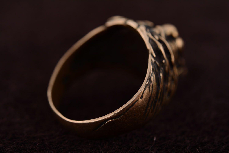 Bronze ring Lion photo 5