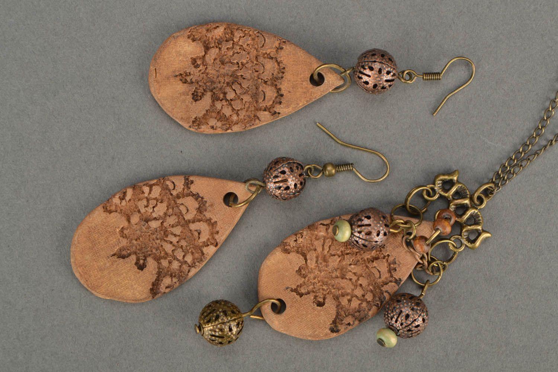Set of clay jewelry Ethnic photo 4
