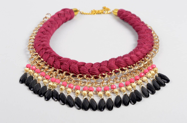 joyería de Tela Collar trenzado hecho a mano de hilos bisutería de moda accesorio de mujer
