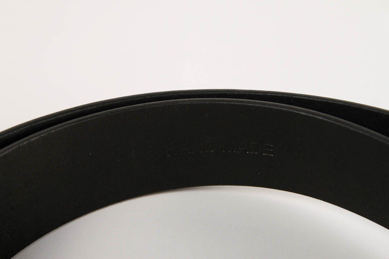 Handmade belt designer accessory for men gift ideas unusual belt black belt photo 6