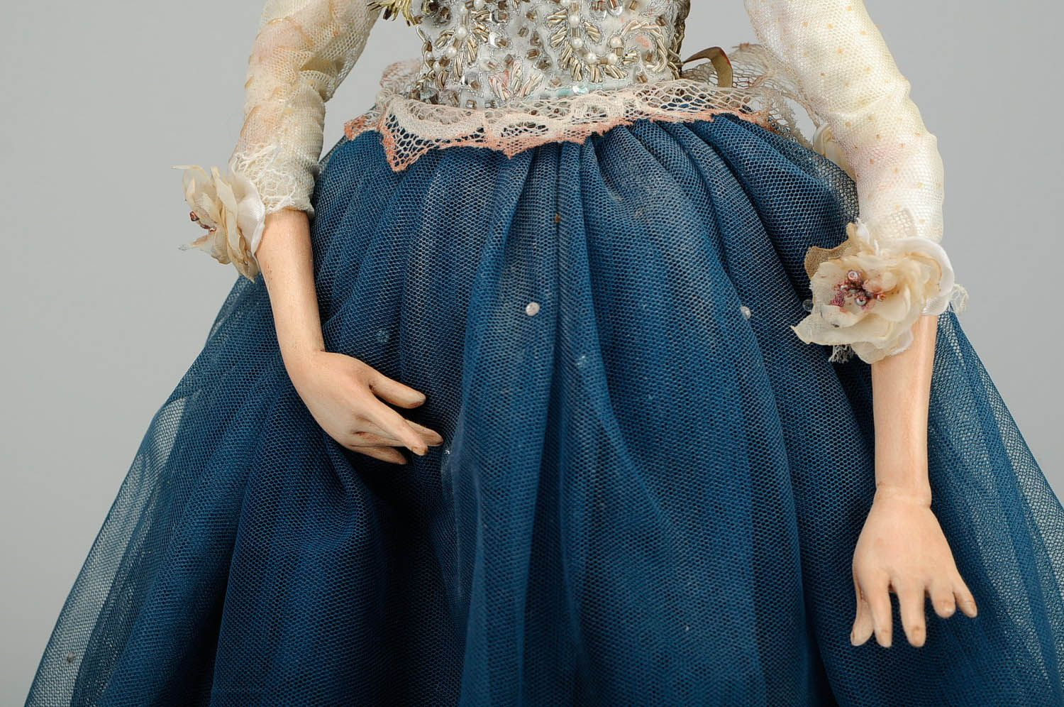 Designer's doll made of natural fabrics Cristie photo 5