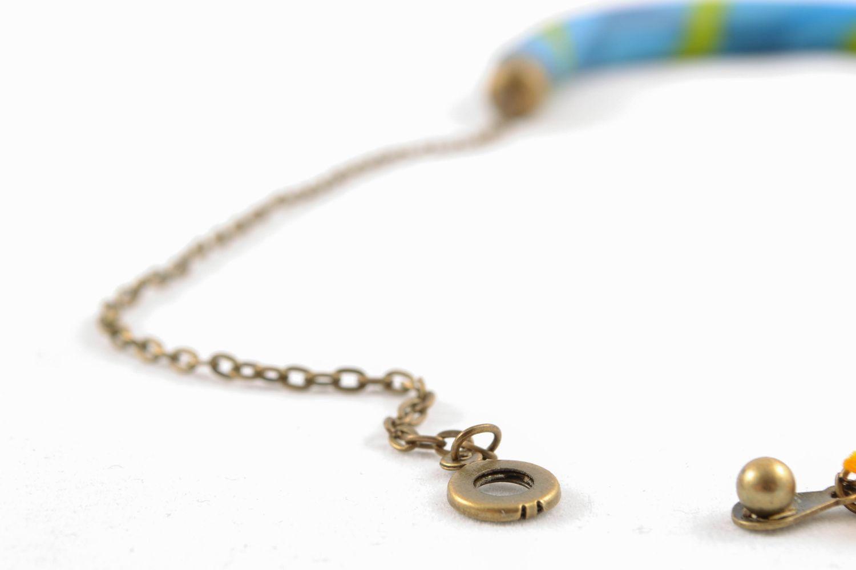 Bunte Halskette aus Polymerton foto 3