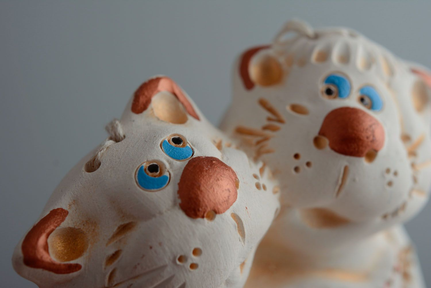 Lovely ceramic bell Cats photo 2