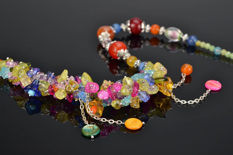 Bright homemade necklace photo 1