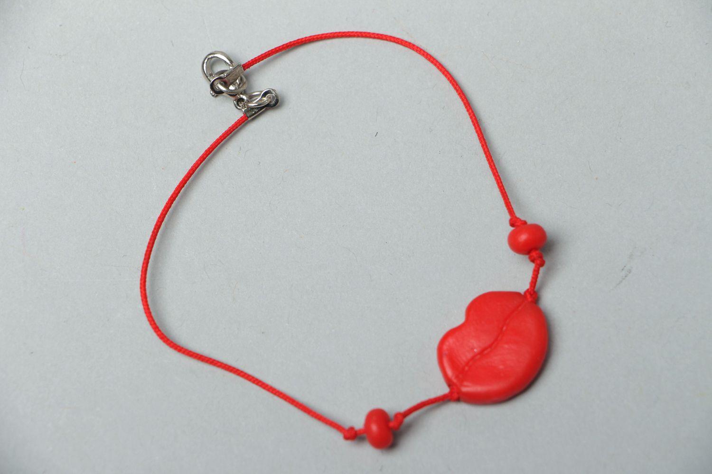 Bracelet avec breloque en pâte polymère  photo 1