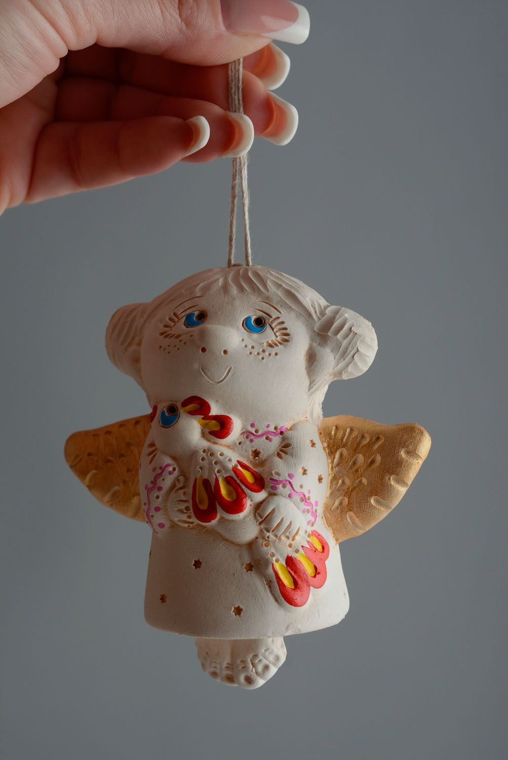 Handmade ceramic bell photo 5