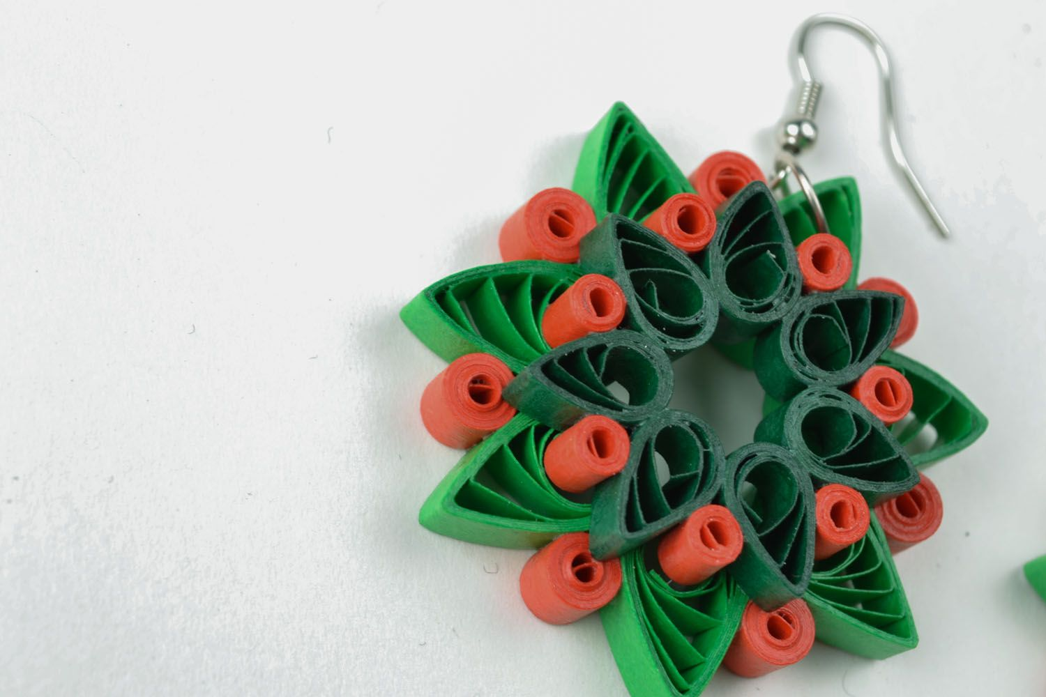 Quilling earrings photo 4