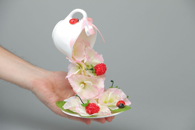 Handmade flower cup photo 4