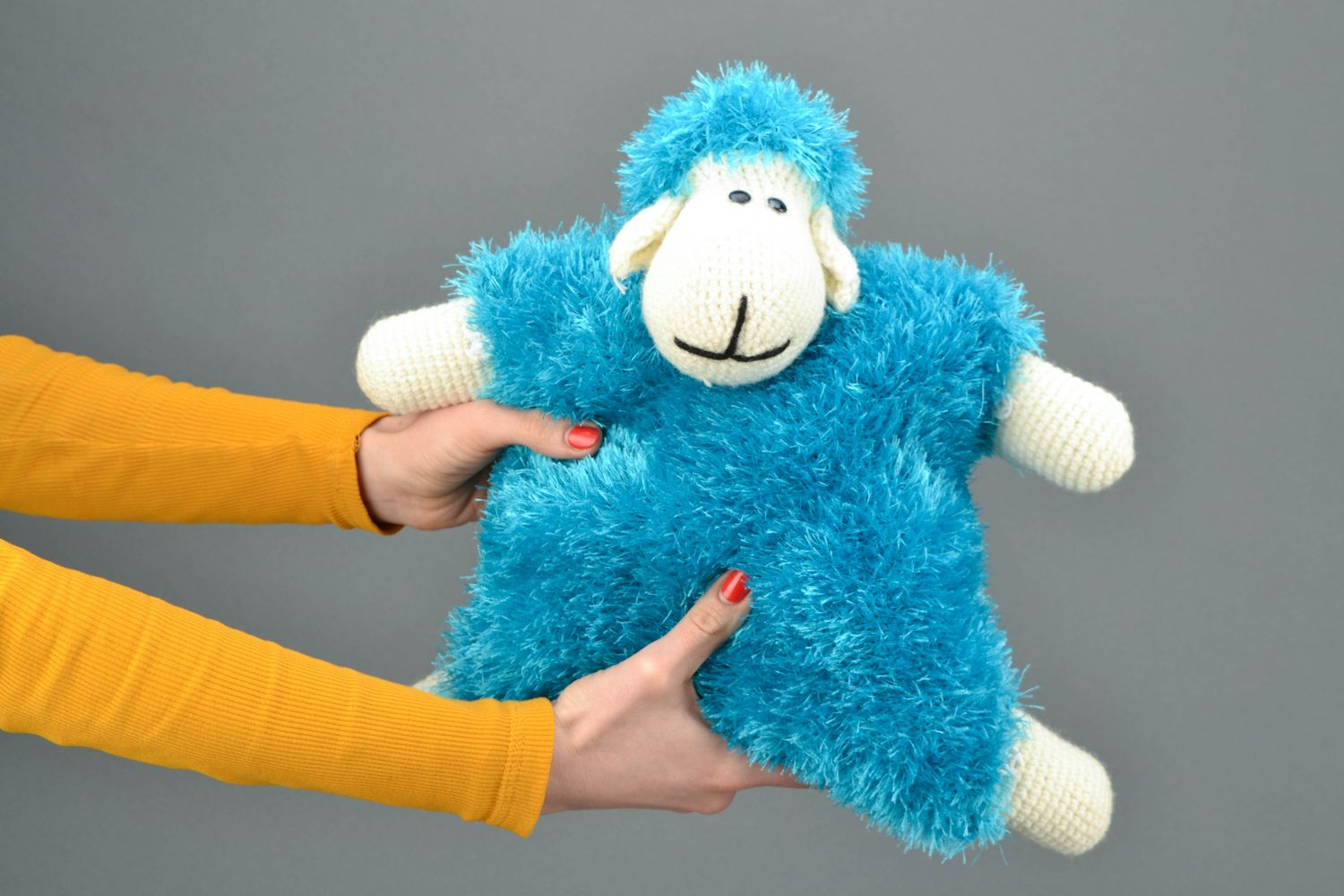 Soft pillow pet in the shape of sheep Turquoise photo 2