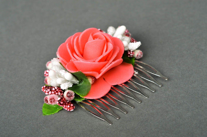 gran inventario mejor mayorista sitio web para descuento Peineta con flores artesanal hermosa adorno para el pelo accesorio para  peinado
