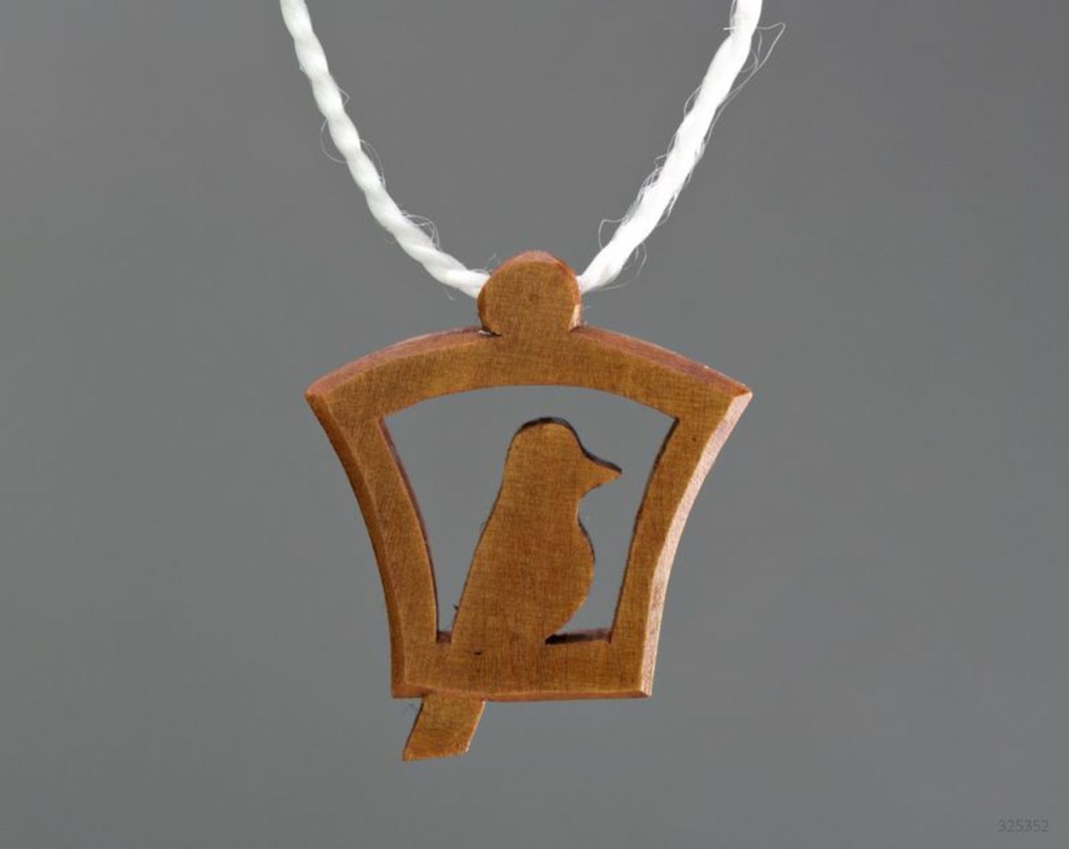 Wooden pendant Bird photo 3