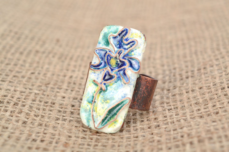 Copper ring Flower photo 1