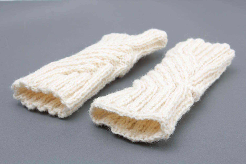 White women's mittens photo 2