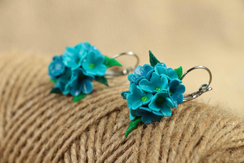 Polymer clay flower earrings photo 4