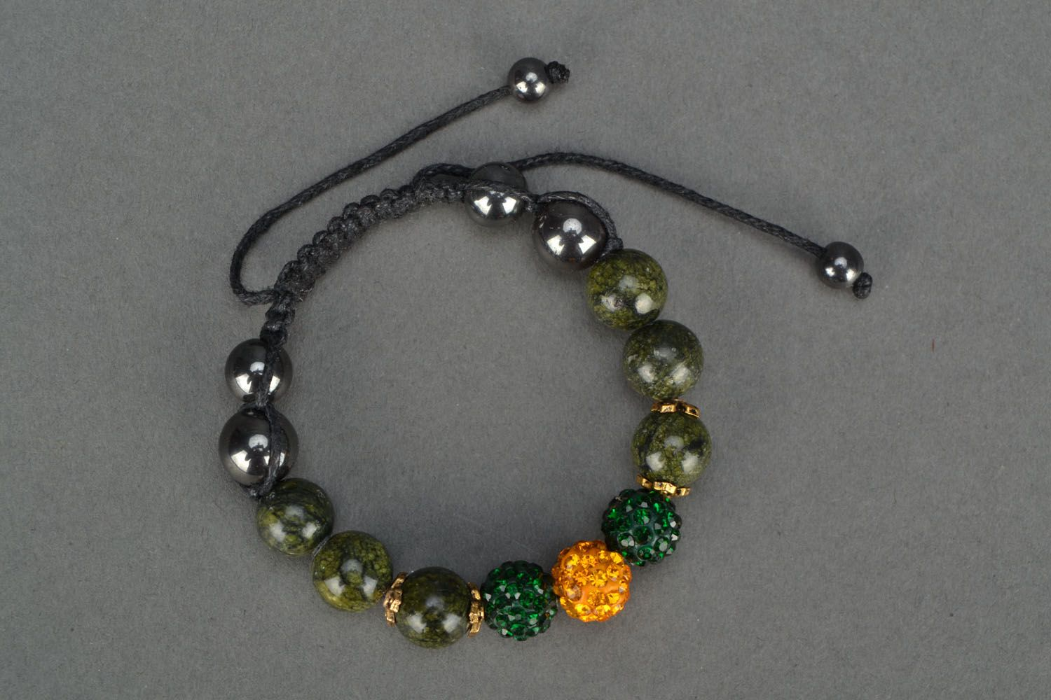 Handmade bracelet with coil stone photo 2