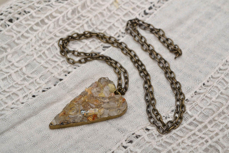 Pendant with quartz Heart photo 1