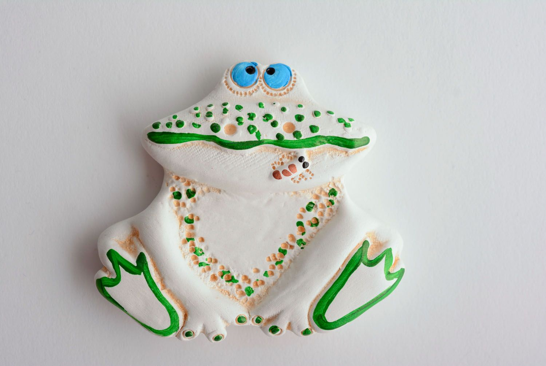 Ceramic fridge magnet Frog photo 1