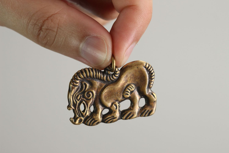 Handmade bronze pendant Scythian Wild Boar photo 4